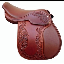 Tooled huntseat saddle. Isn't this gorgeous??
