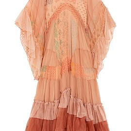 Chloé - Ruffled printed silk-mousseline and tulle maxi dress
