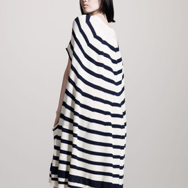 JUNYA WATANABE COMME des GARÇONS - Junya Watanabe Striped Swing Dress in Blue (navy)