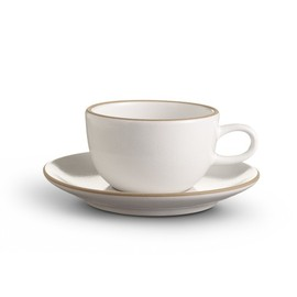 Heath Ceramics - Teacup & Saucer Opaque White