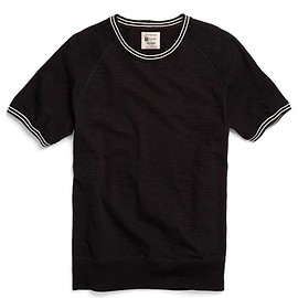 Todd Snyder - Piped Raglan Sweatshirt in Black