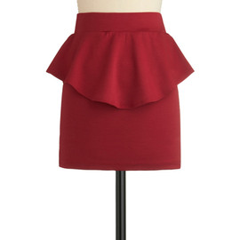 Eternal Flame of Love Skirt - Red, Solid, Ruffles, Party, 80s, Fall, Short, Exclusives