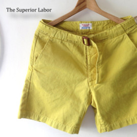 THE SUPERIOR LABOR - 【THE SUPERIORLABOR】SL227/Holiday Shorts(Yellow)