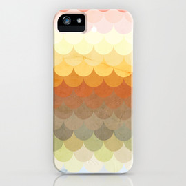 Society6 - Half Circles Waves Color iPhone Case