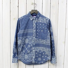 THE NORTH FACE PURPLE LABEL - COOLMAX® Indigo Chambray Print B.D Shirt