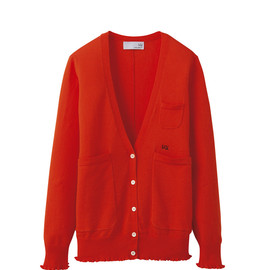 UU - W's UU cotton V neck cardigan(L)+