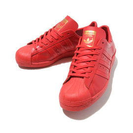 adidas Originals - Super Star 80s LTHR Red
