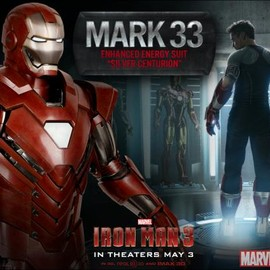 The Mark 33 Silver Centurion armor from Marvel's Iron Man 3