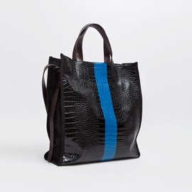 dries van noten - tote bag structure black / blue