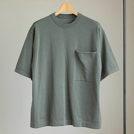 crepuscule - Pocket Knit S/S #green