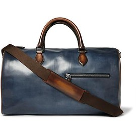 Berluti - Jour-Off Polished-Leather Holdall