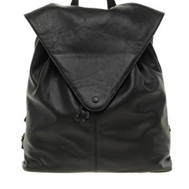 ASOS - ASOS Leather Backpack with Pointed Flap