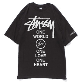 STUSSY×FRAGMENT DESIGN - ONE WORLD.ONE LOVE.ONE HEART. BLACK