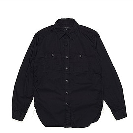 ENGINEERED GARMENTS - Work Shirt-French Twill-Black