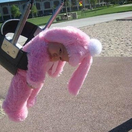 Baby In A Bunny Costume