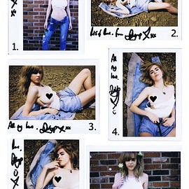 danielle sharp - Denim Polaroid Set