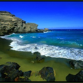 Hawaii - Green Sand Beach