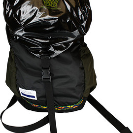 ficouture - PACKABLE TRAVEL BAG PACK / BLACK