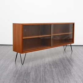 ? - Vintage Mid-Century Teak Cabinet with Hairpin Legs, 1960s 9