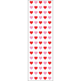 "Mrs. Grossman's - Red & Pink Hearts Stickers - 6.5"" x 2"""