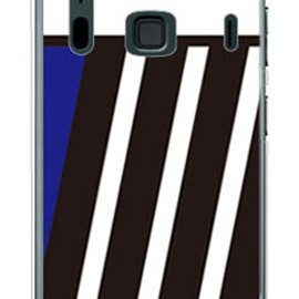 SECOND SKIN - BLUE & BLACK ブルー (ソフトTPUクリア) design by ROTM / for ARROWS A 202F/SoftBank