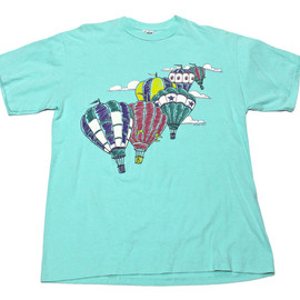 VINTAGE - Vintage 90s Hot Air Baloon Tee Made in USA Mens Size Medium