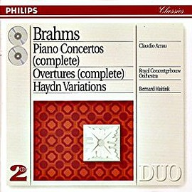Claudio Arrau, Royal Concertgebouw Orchestra, and Bernard Haitink - Brahms: Piano Concertos complete ; Overtures complete ; Haydn Variations