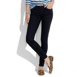 Madewell - Skinny Skinny Ankle Jeans in Black Frost Wash