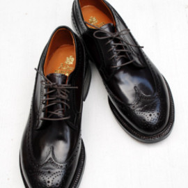ALDEN - ALDEN × BLUE BLUE OXFORD LONG WINGTIP
