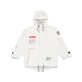Heron Preston, NASA - NASA Edition Hooded Jacket - White