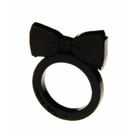 Tatty Devine - Bow Tie Ring (Black)