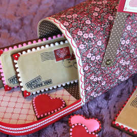 """JULIA USHER - Valentine's Day cookie""""Love Letters Redux"""""""