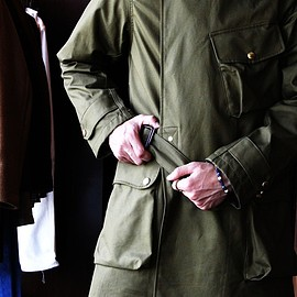 ANACHRONORM - Ventile Cotton Trench Coat (Olive)