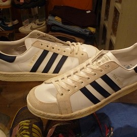 "addias - 「<used>70's adidas THE HOGAN white/navy""made in FRANCE"" size=GB11(29.5cm) 36800yen」完売"