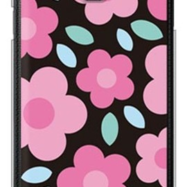 SECOND SKIN - フラワーポップ ブラック×ピンク (クリア) / for GALAXY Note III SC-01F/docomo