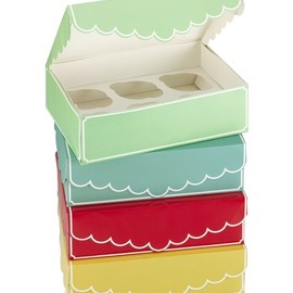 Williams-Sonoma - Cupcake Boxes, Set of 4, Multicolors
