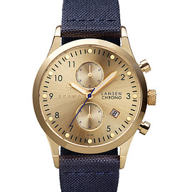 TRIWA - Triwa Gold Lansen Chrono Navy Classic Canvas Watch