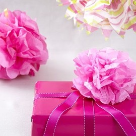 Tissue paper flower gift decora