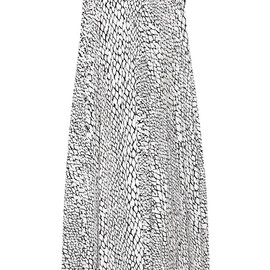 BOUCHRA JARRAR - SS2015 Sleeveless Python Printed Cotton Dress