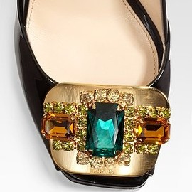 PRADA - Bejeweled Pumps