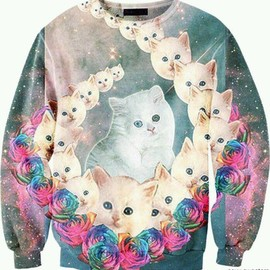 sexy-sweaters - Acid Trip Kitty