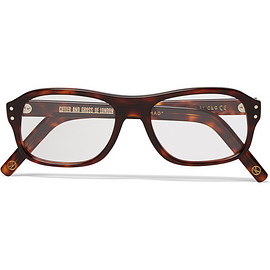 CUTLER AND GROSS - Kingsman + Cutler and Gross Square-Frame Tortoiseshell Acetate Optical Glasses