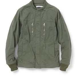 nonnative - DISCOVER JACKET C/P ARMY CLOTH STRETCH