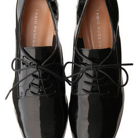 fabio rusconi - Patent Leather lace up shoes