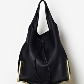 3.1 Phillip Lim - BLACK 'SCOUT' DRAWSTRING HOBO