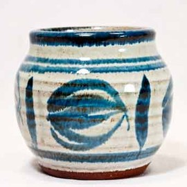David Leach -  Blue Aylesford pot