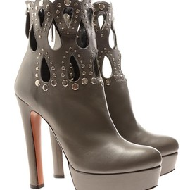 AZZEDINE ALAÏA - Laser cut leather platform boots
