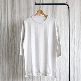 crepuscule - Knit T-Shirt 3/4 #white gray