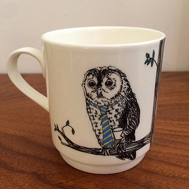 Jimbobart - Owl Stackable Tea Mug