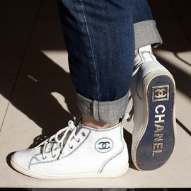 CHANEL - high top trainers